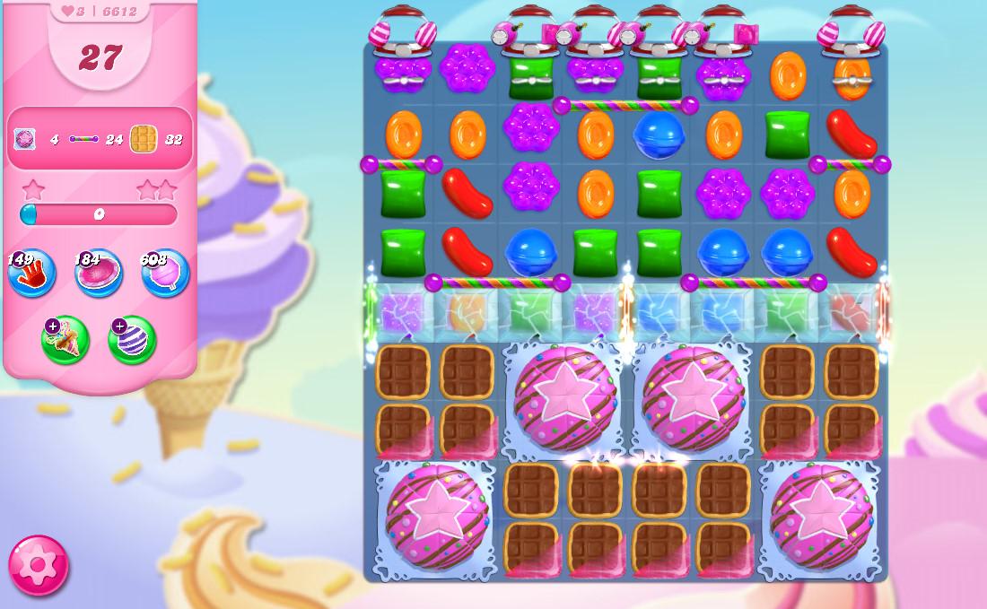 Candy Crush Saga level 6612