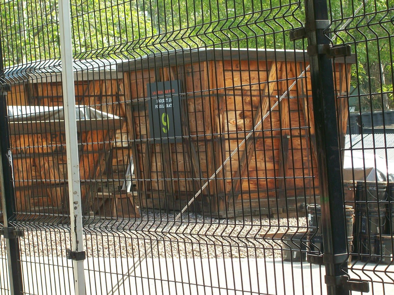 Giant tree crates hold the fossils awaiting cleaning and processing - La Brea Tar Pits and Page Museum