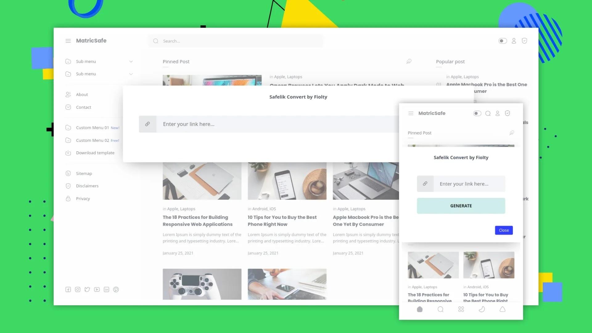 Median UI Safelink Blogger Template