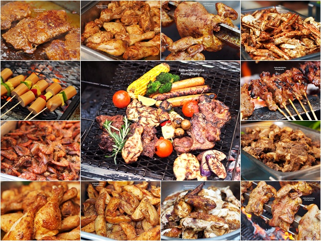 Sumptuous Spread Of BBQ Food Items
