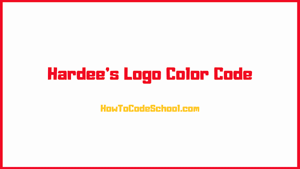 Hardees Logo Color Code