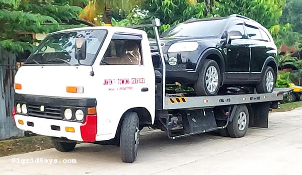Javin's Towing Service Bacolod - Bacolod towing service - Bacolod City - Bacolod blogger - super cars - miata- towing super cars - car break down - emergency towing service - Toyota Fortuner - Chevrolet Captiva