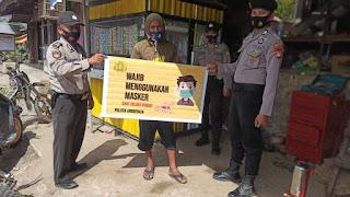 Personi Polsek Anggeraja Polres Enrekang Gelakkan Operasi Yustisi