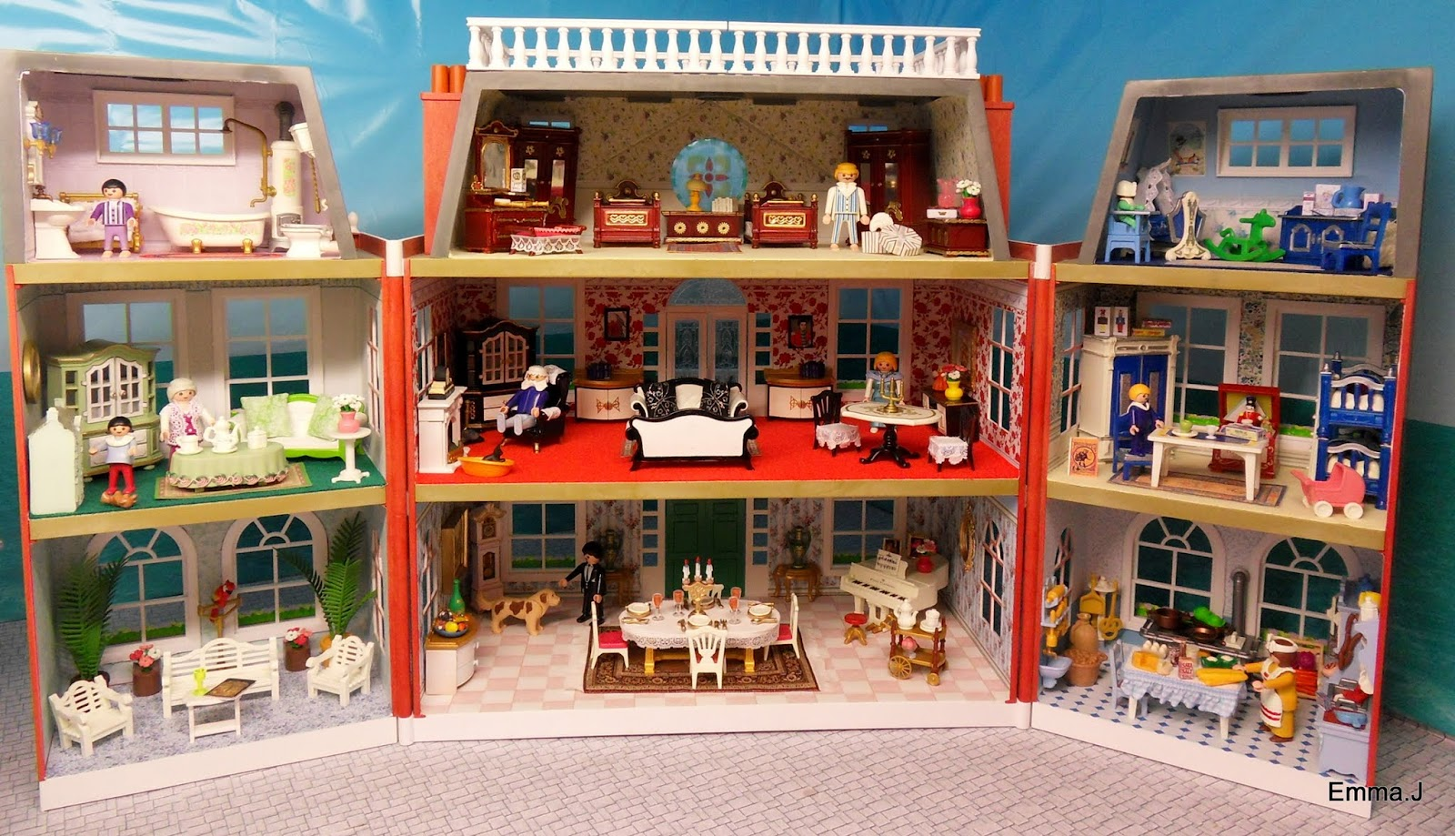 The Red Mansion Emma J 39 S Playmobil