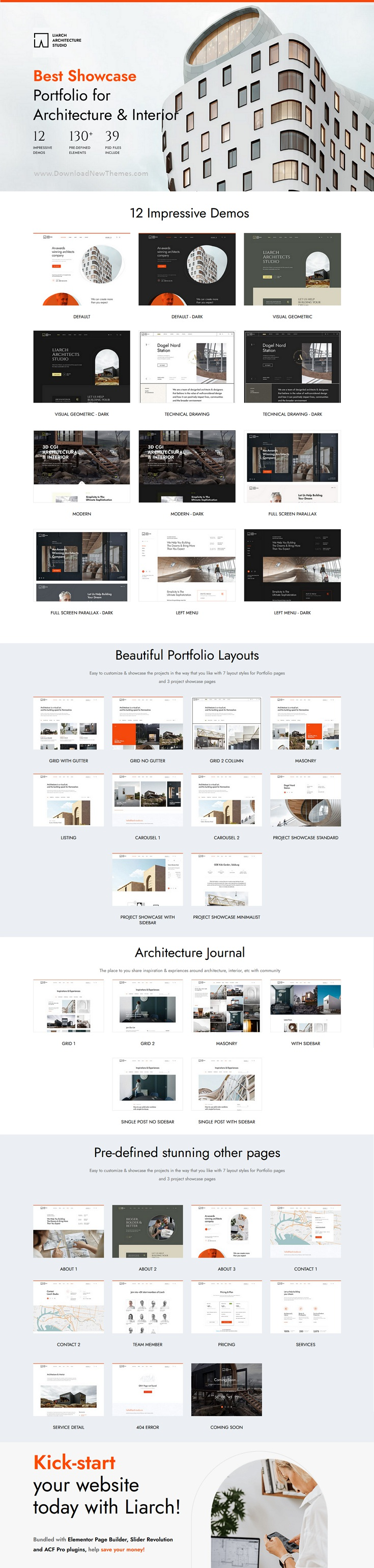 Architecture and Interior Bootstrap Template