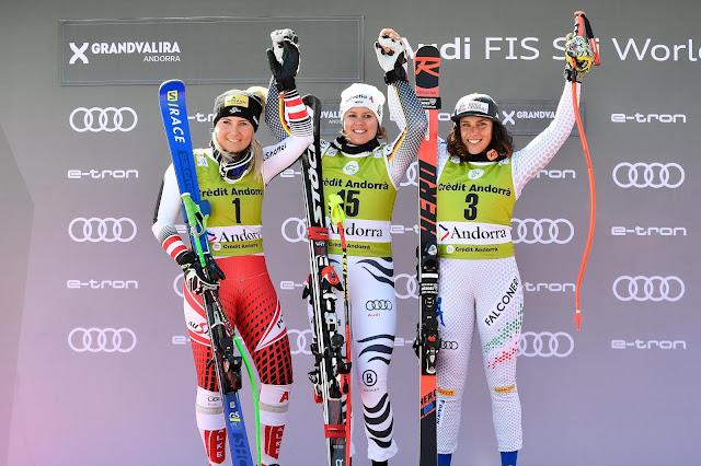 Viktoria Rebensburg Wins Last Super-G of the Season. Shiffrin Grabs the Crystal Globe