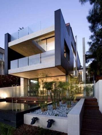 rumah minimalis dua lantai desain eksterior model eropa