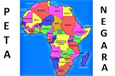 Peta Negara Benua Afrika