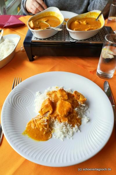 Chicken Tikka Murgh Makhani im Restaurant Sangam in Karlsruhe