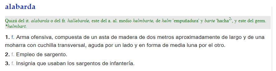 Alabarda - definición