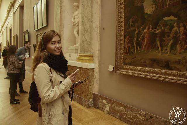woman inside museum