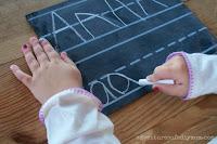 kids penmanship chalkboard
