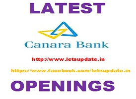 Canara bank jobs-letsupdate