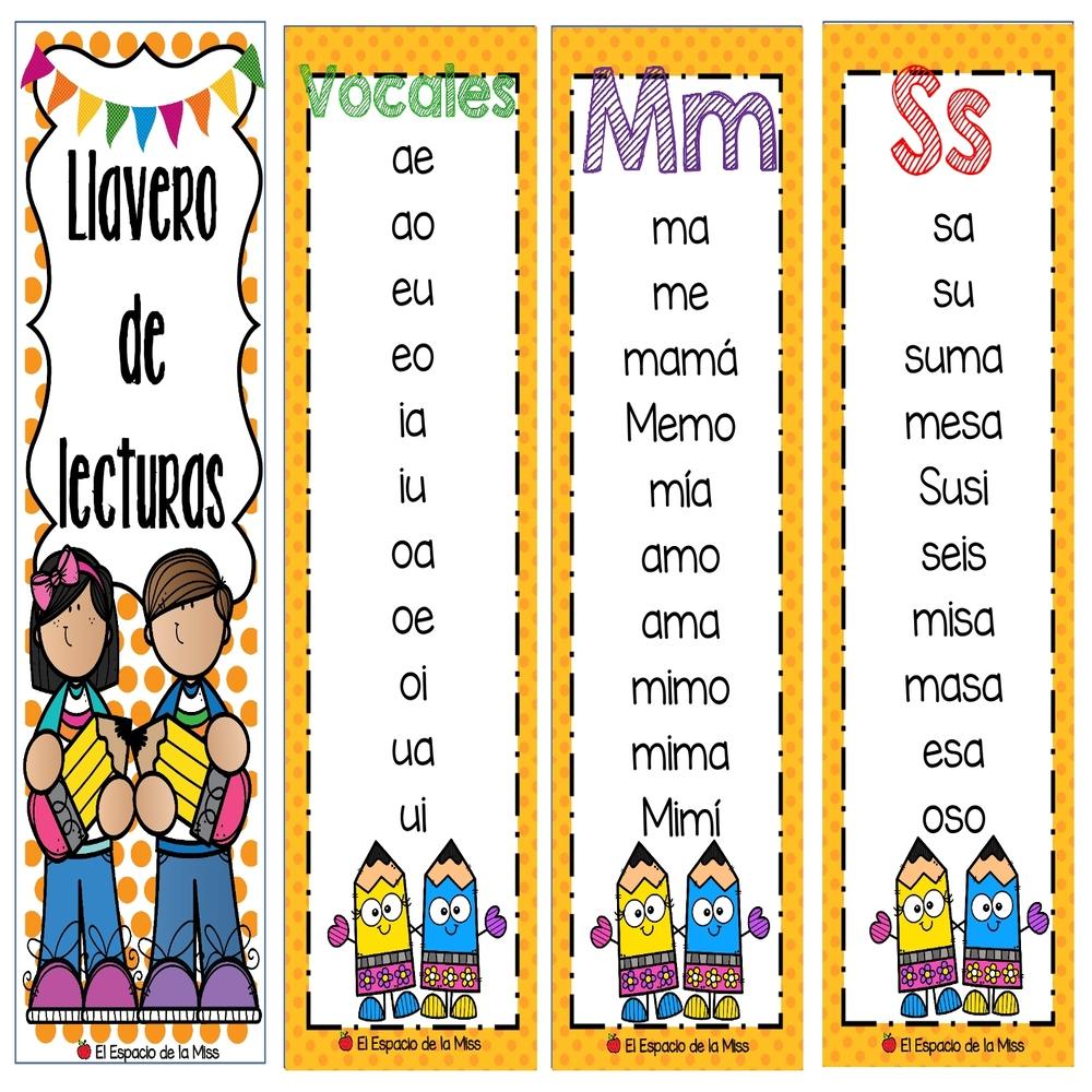 Llavero De Lectura Por Sílabas Y Palabras Materiales Educativos Para Maestras