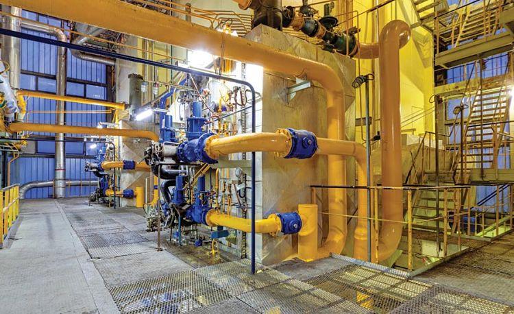 Sistema de transferencia de calor industrial