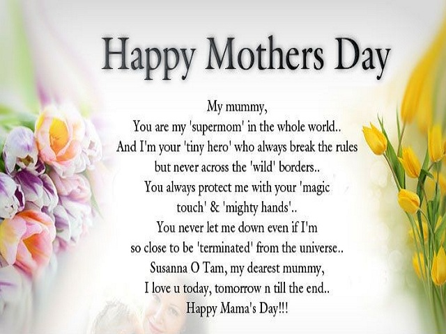 Happy Mother's Day Poems 2017