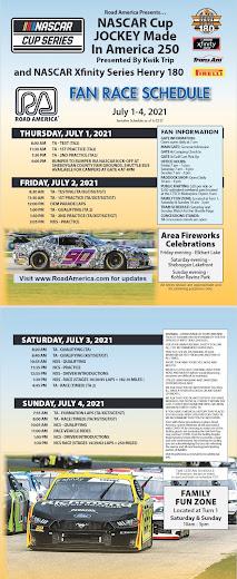 #NASCAR Road America Schedule
