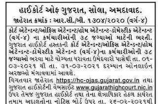 Attendant Job – High Court of Gujarat Recruitment 2021