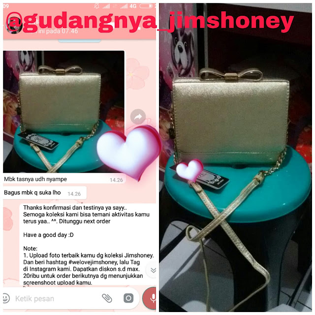 Testimoni Tas Jimshoney Lil Bow Plus Bag
