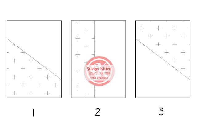 Schema di taglio - One Sheet Wonder - 3 Card con un foglio 15x15