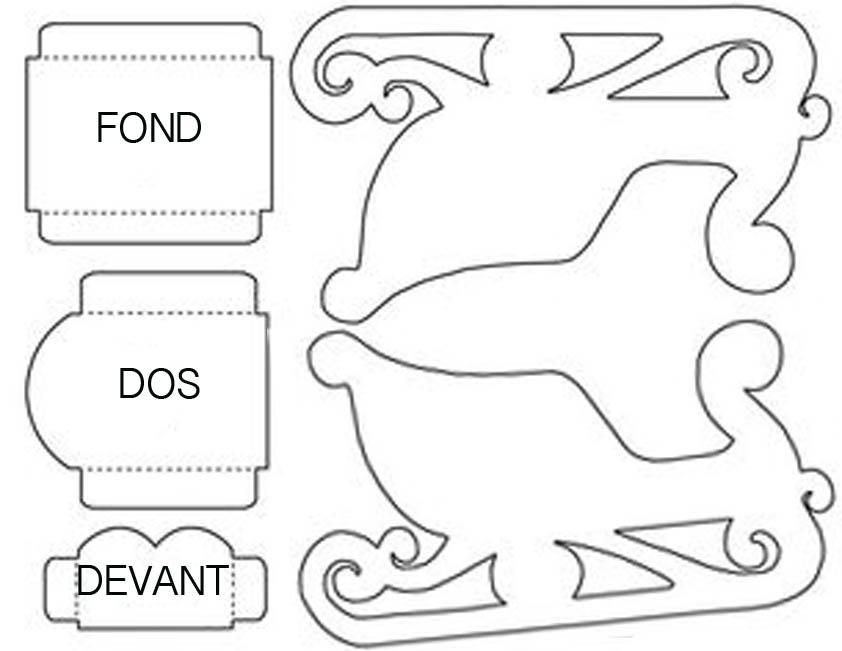 les diy de fishounette traineau du p re no l en creaflexx. Black Bedroom Furniture Sets. Home Design Ideas