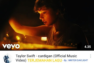 Arti Lagu Taylor Swift Cardigan