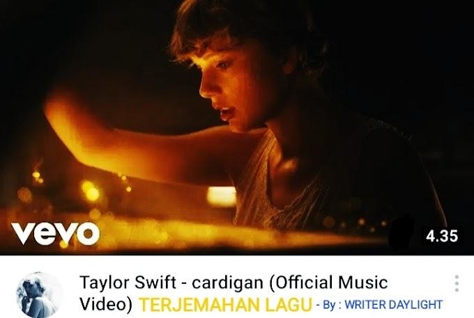 Terjemahan Lagu Taylor Swift Cardigan Serta Makna Artinya Lengkap!!!