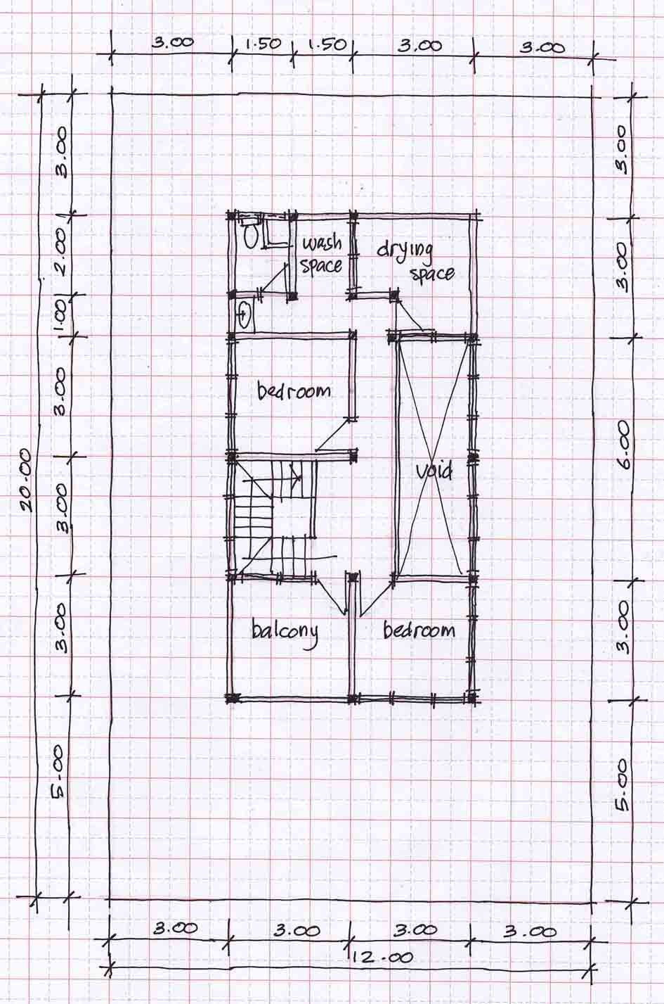 Small Two Story House Design: SMALL TWO-STORY HOUSE PLANS 12MX20M