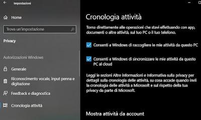 sequenza temporale windows 10