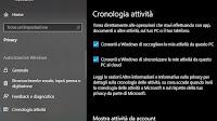 Usare o disattivare la Timeline di Windows 10 (cronologia attività)