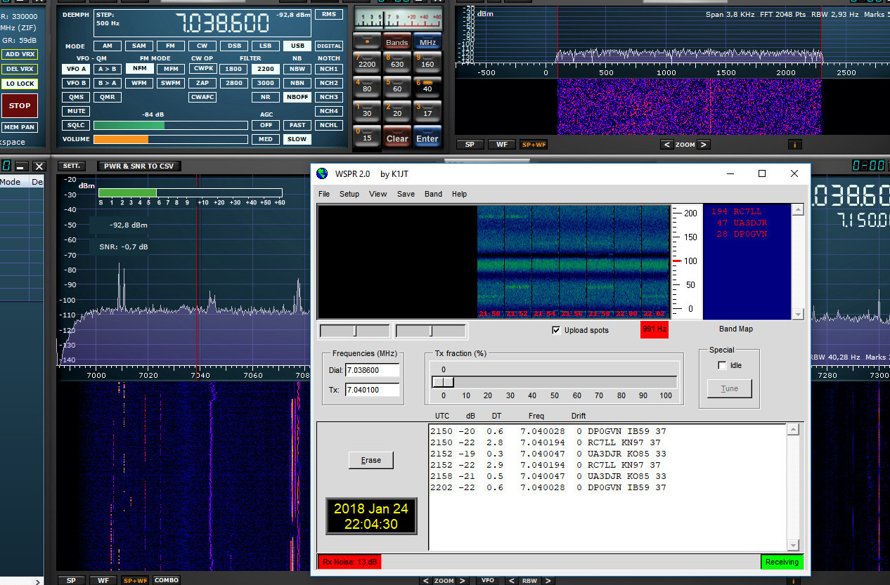 PA7MDJ Amateur Radio Blog: WSPR monitoring and the SDRPlay