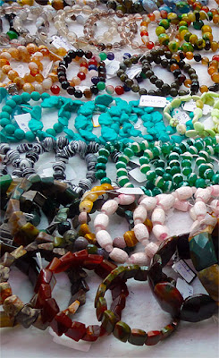 semi precious stones necklace ethnic style