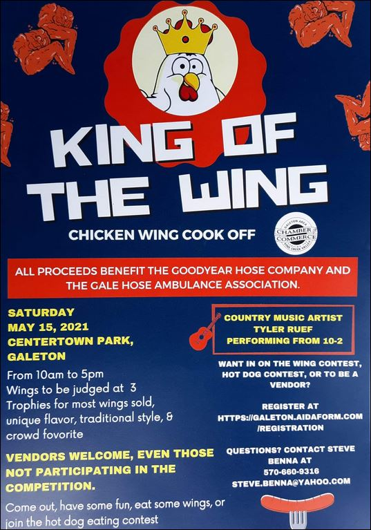 5-15 Chicken Wing Cookoff, Galeton