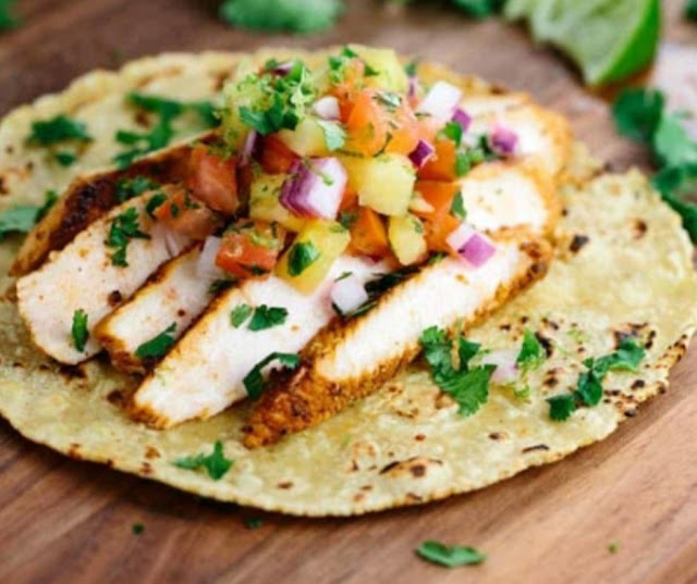 Blackened Chicken Tacos With Pineapple Salsa