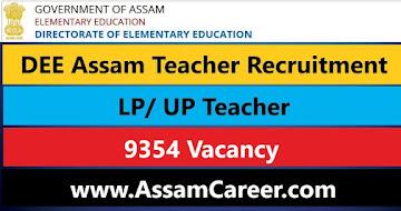 DEE LP UP Teacher Recruitment 2021 – 9354 Vacancy, Online Application
