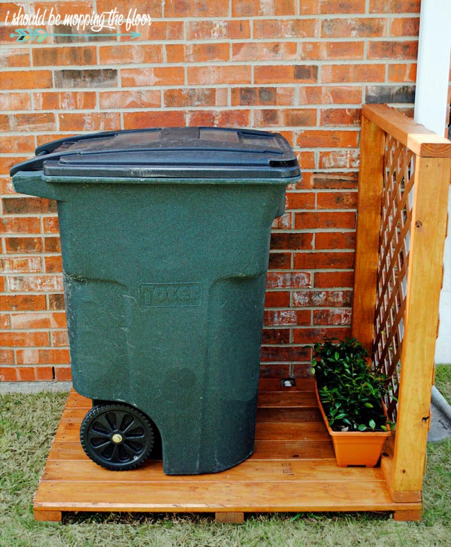 outdoor garbage can storage i should