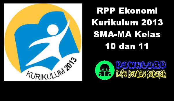 RPP Ekonomi Kurikulum 2013 SMA-MA Kelas 10 dan 11
