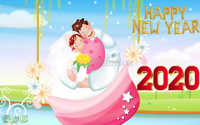 Happy New Year 2020 Love HD Photo Greetings Wishes Download
