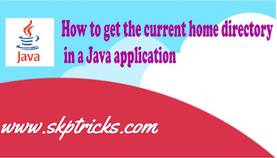 How to get the current home directory in a Java application