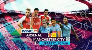 Jadwal Siaran Langsung Arsenal vs Manchester City