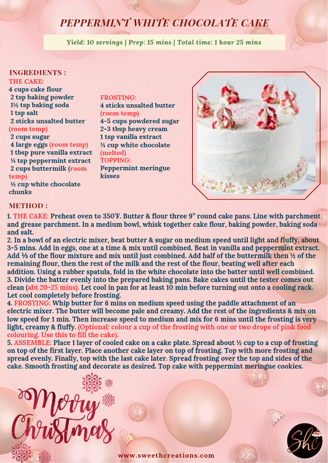 SHC TOP 10 AWESOME CHRISTMAS CAKE RECIPES EVER