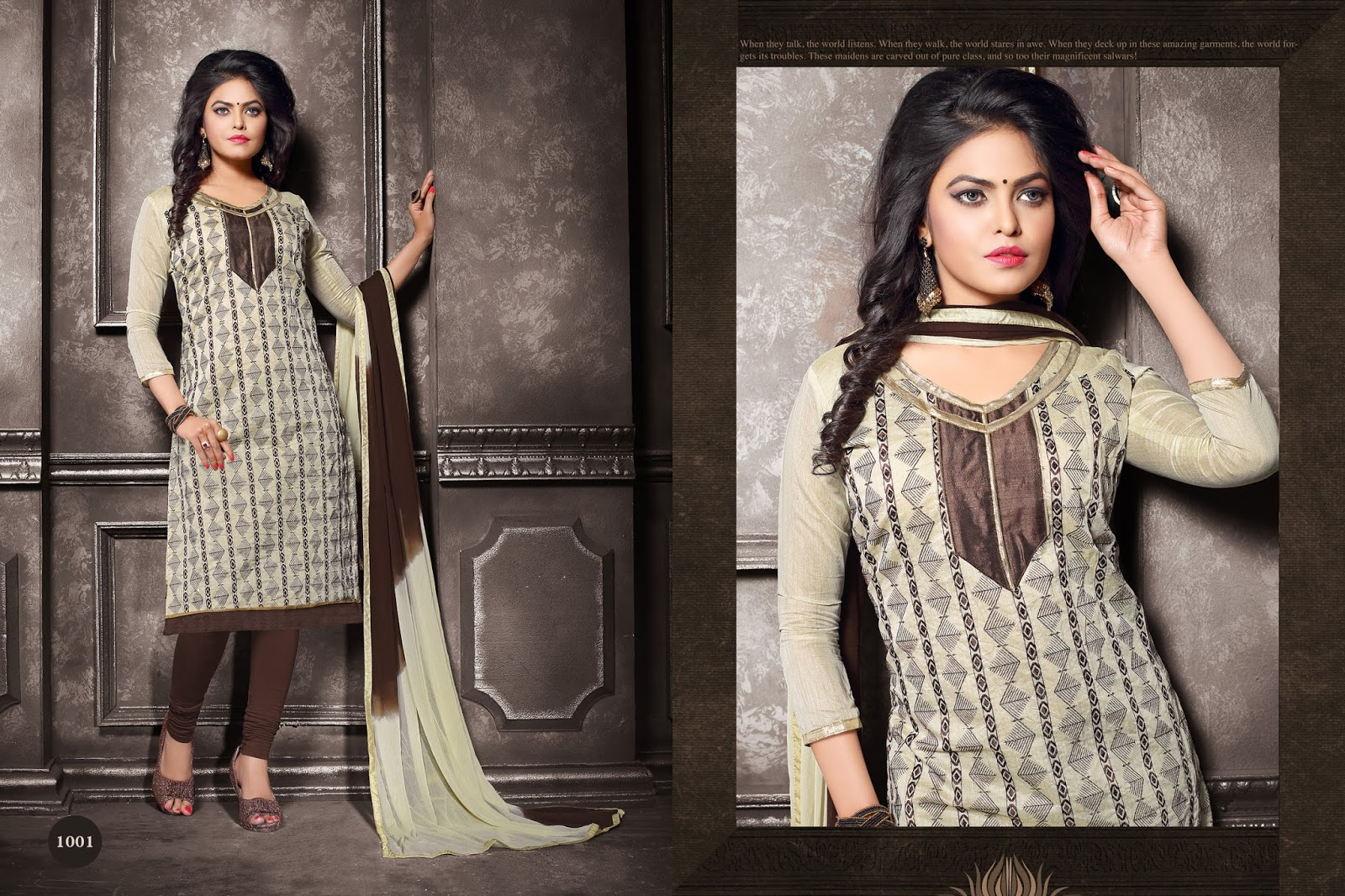 Aalishan – Churidar Embroidered Salwar Suit Dress Material