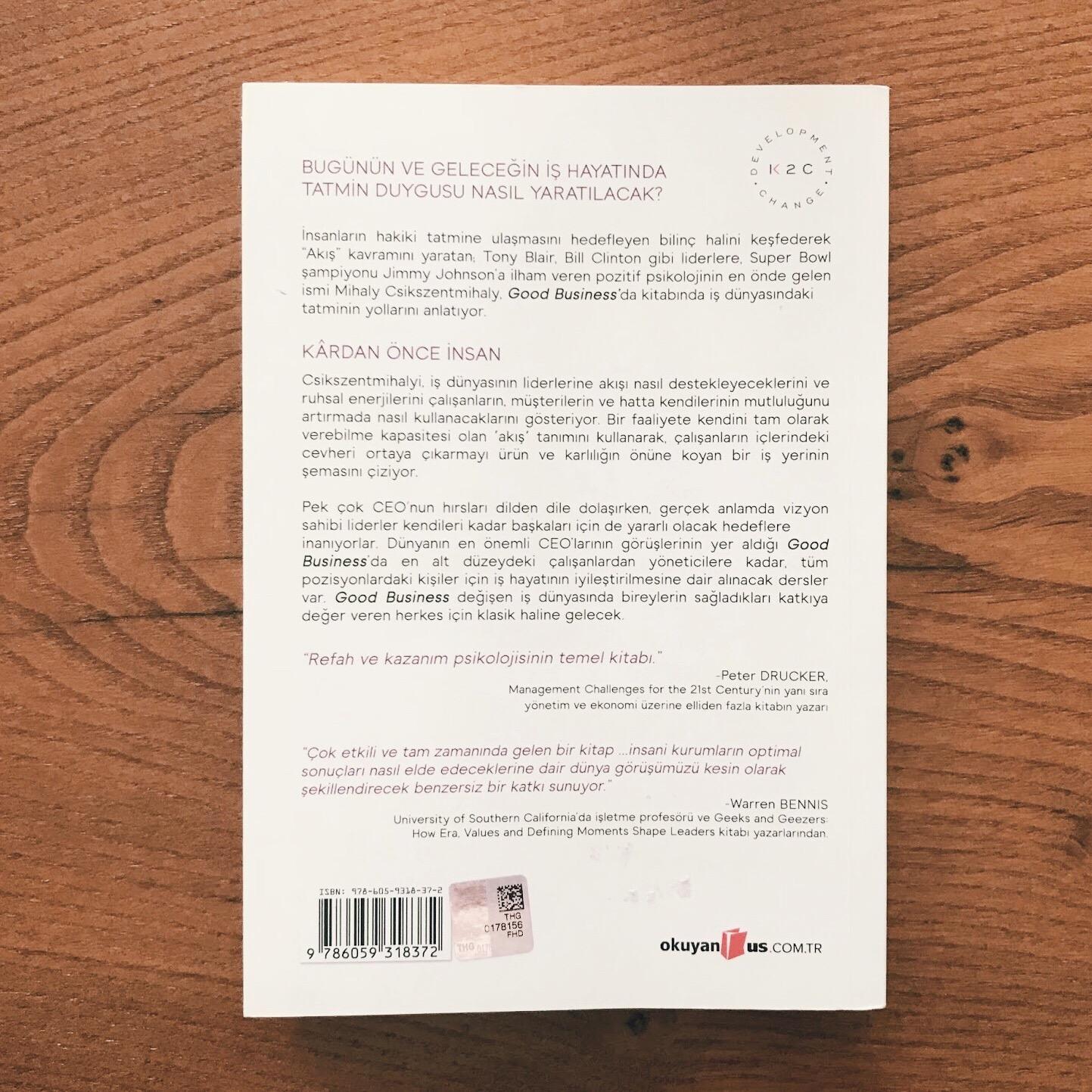 Good Business - Liderlik, Akış ve Anlam Yaratma (Kitap)