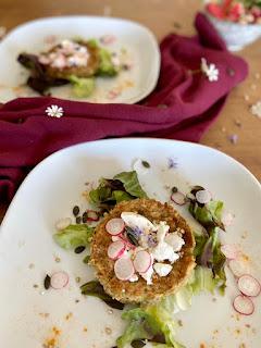 image Galettes de courgette, flocons d'avoine et curry