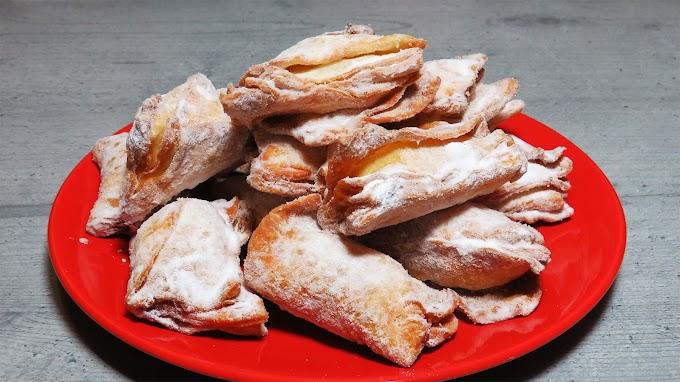 Turtițe prăjite umplute cu nucă
