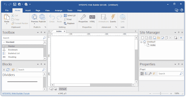 Screenshot WYSIWYG Web Builder 15.3.0 Full Version