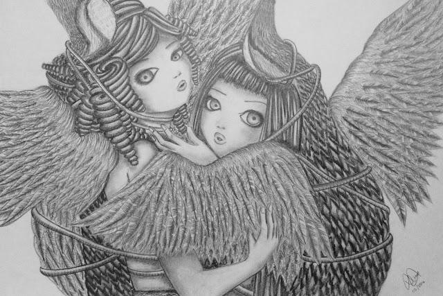Anna Legaspi Art craftofboredom Pencils on Paper Inspired by Camilla dErrico Dancing with Cranes