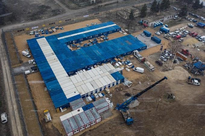 Operatív törzs: jó ütemben halad a kiskunhalasi konténerkórház építése