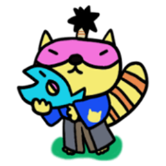 Raccoon Samurai