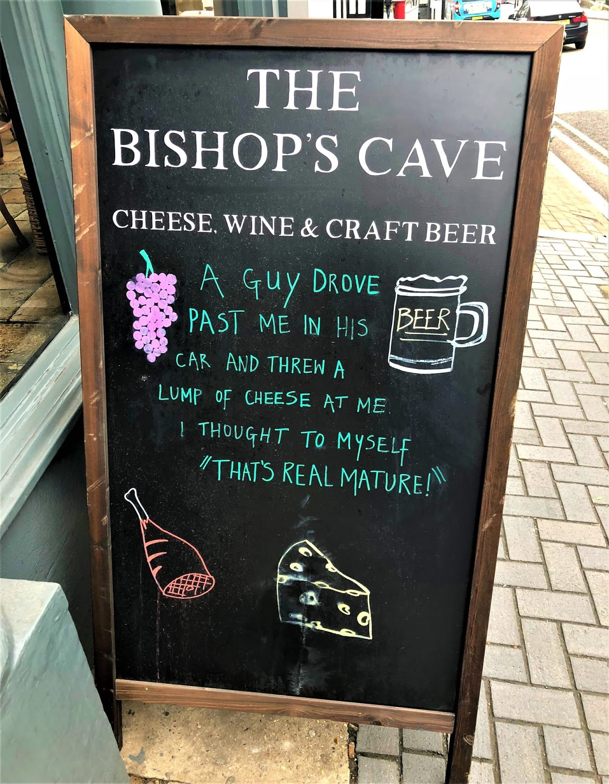Cheese and wine at The Bishop's Cave, St Albans